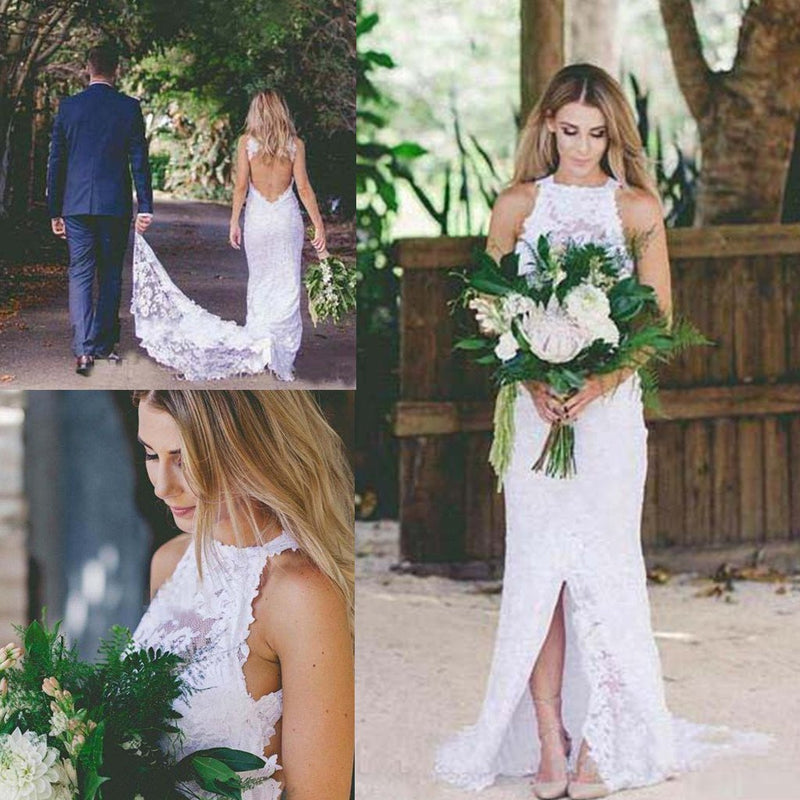 Simple Lace Wedding Dress