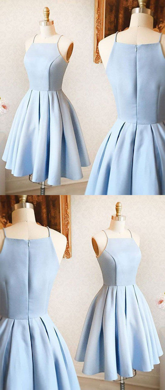 0f667850503 Sexy Spaghetti Straps Light Blue Party Dresses