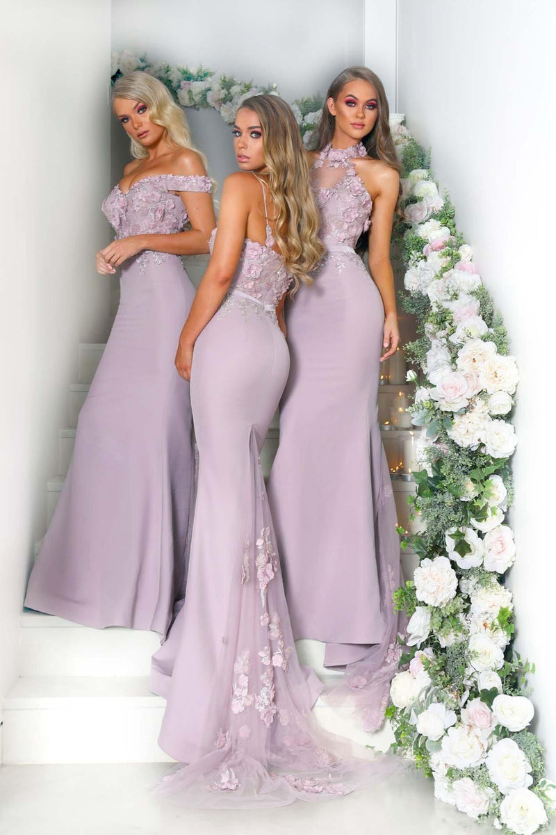Mermaid Off-shoulder Appliques Long Sexy Bridesmaid Dresses, BD0563