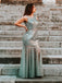 Mermaid Sleeveless Round Neck Evening Prom Dresses, Cheap Prom Dresses, OL096