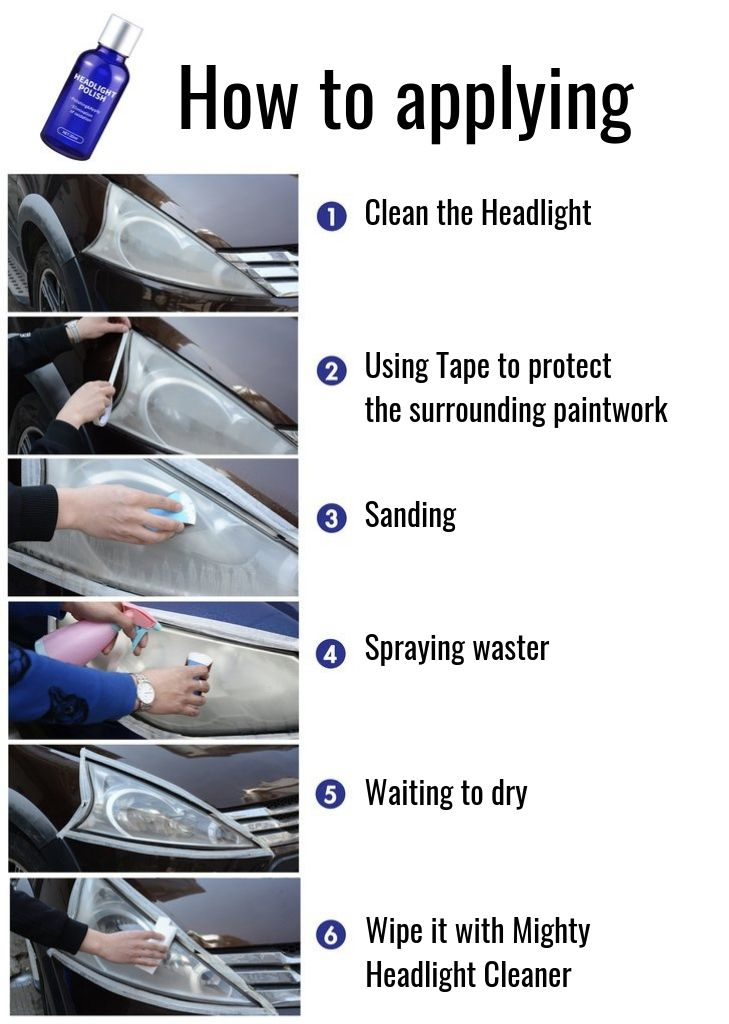 HOW TO APPLYING 9H Headlight Cleaning Polish