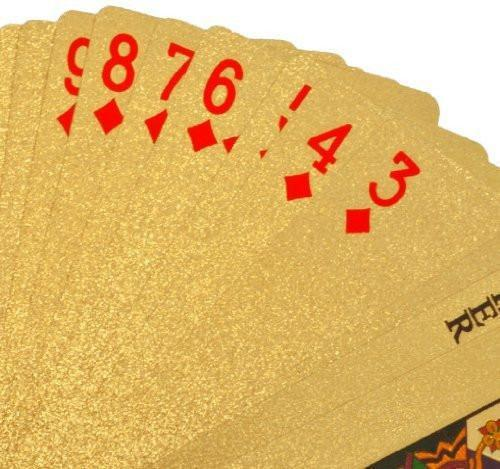 24K Gold -Plated Playing Cards With Case