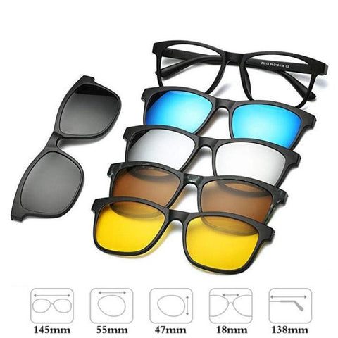 Sunglasses 5 in 1