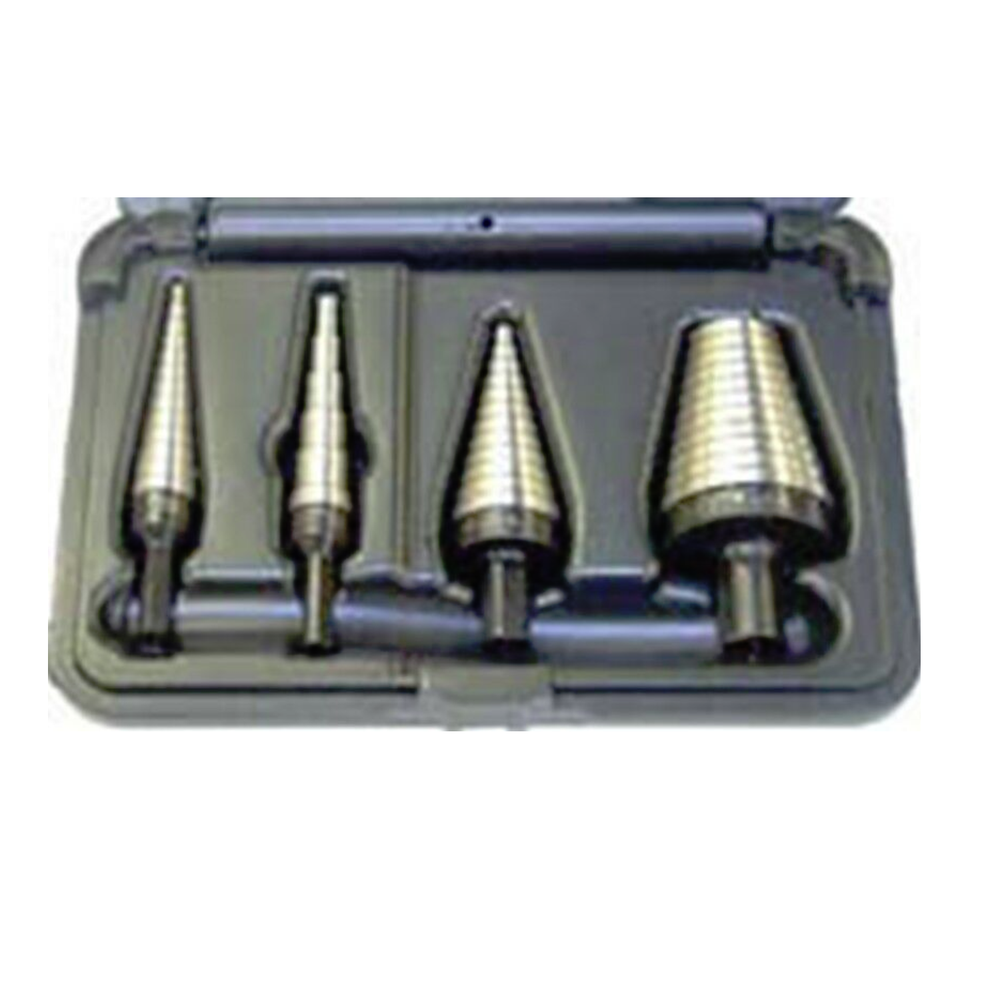 Irwin Vise Grip 10225 4 Piece Unibit Step Drill Bit Set