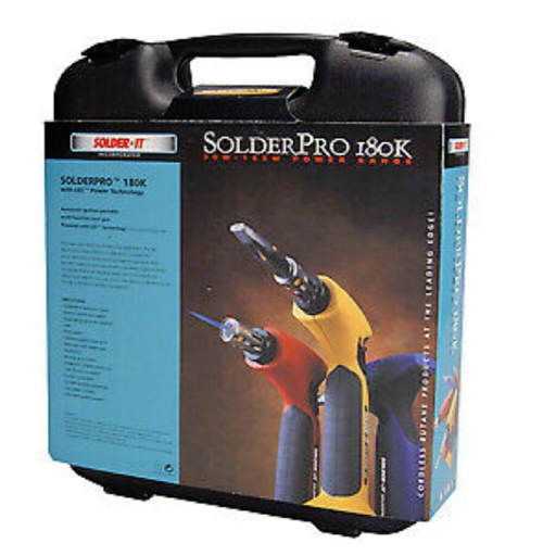Solder-It PRO180K Professional Butane Soldering Kit with Easy Cell Refills