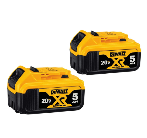 Dewalt DCB205-2 20 Volt Max XR Li-Ion 5.0ah Battery - 2 Pack
