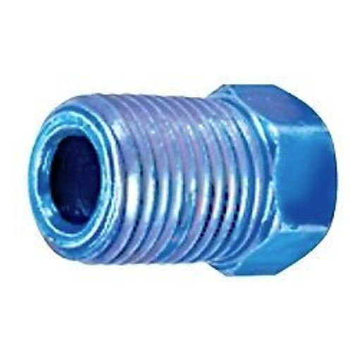 S.U.R & R BR210C M10 x 1.0 Blue Inverted Flare Nut (100)