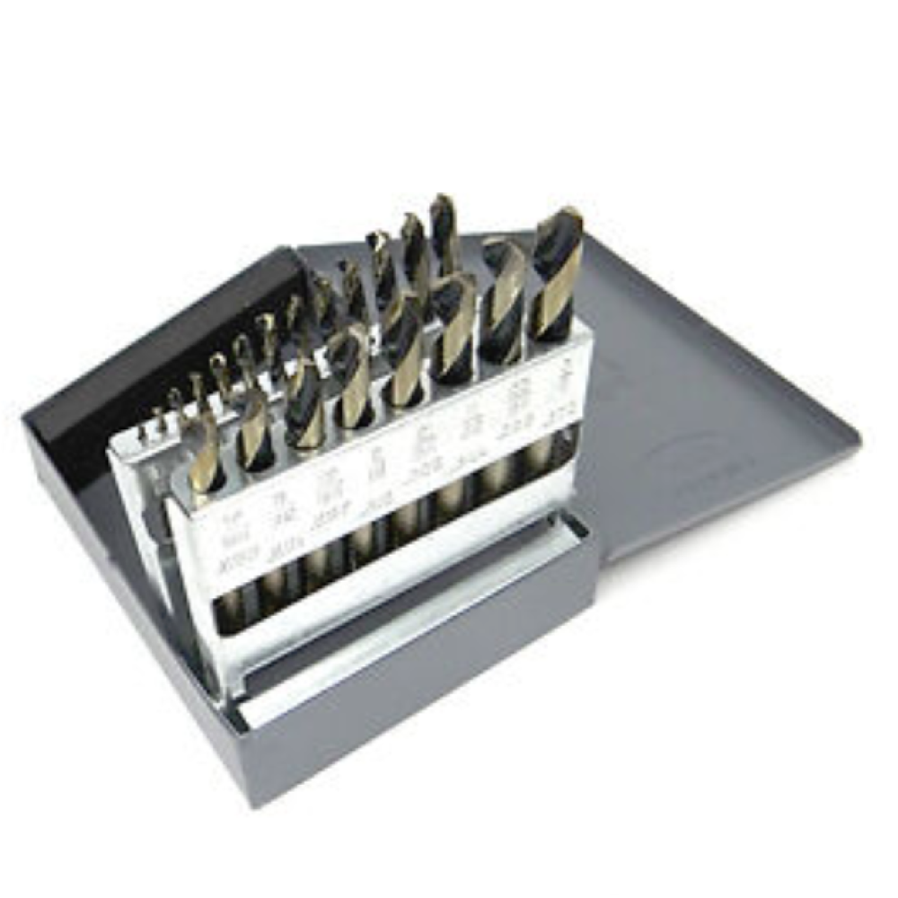 KNKUT 21KK7 21 Piece Stubby Length Drill Bit Set