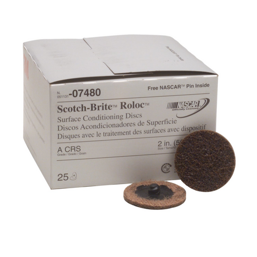 "3M 7480 2"" Coarse Roloc Conditioning Cleaning Discs"