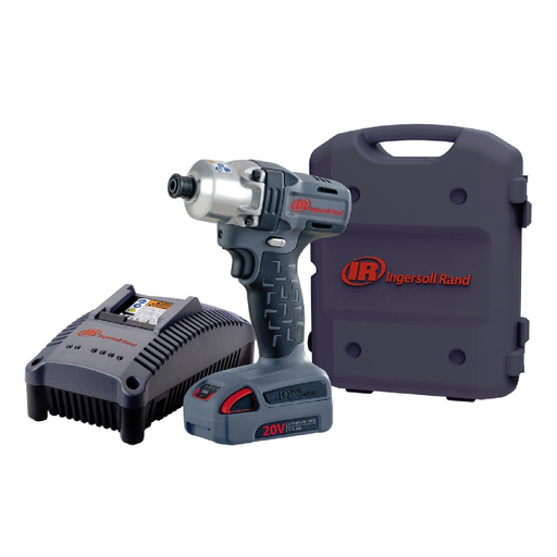 "Ingersoll Rand W5110-K12 1/4"" 20 Volt Hex Impact Kit with 2 Batteries"
