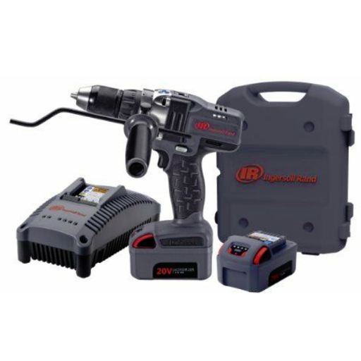 "Ingersoll Rand D5140-K2 20 Volt IQV 1/2"" Drill Driver With Two Batteries"