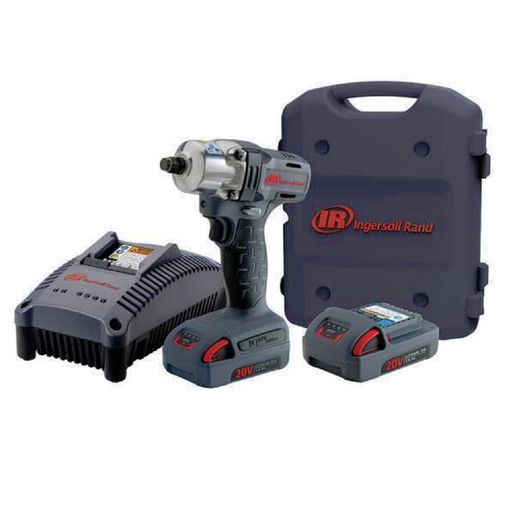 "Ingersoll Rand W5150-K22 1/2"" 20 Volt Mid Impact Kit with 2 Batteries 2.5AH"