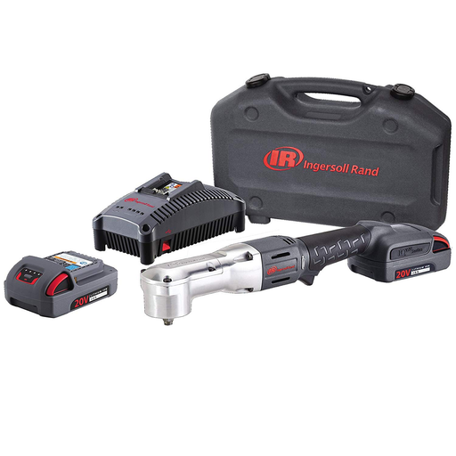 "Ingersoll Rand W5330-K22 3/8"" 20 Volt Right Angle Impact Kit with 2 Batteries 2.5AH"