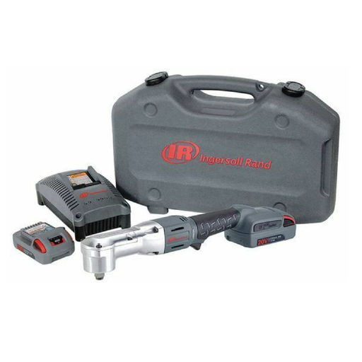 "Ingersoll Rand W5350-K22 1/2"" 20 Volt Right Angle Impact Kit with 2 Batteries 2.5AH"
