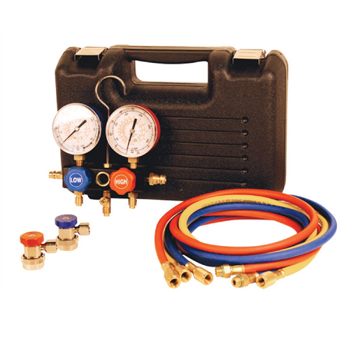 FJC 6799 R134A Manifold Gauge Set With Extended Hose