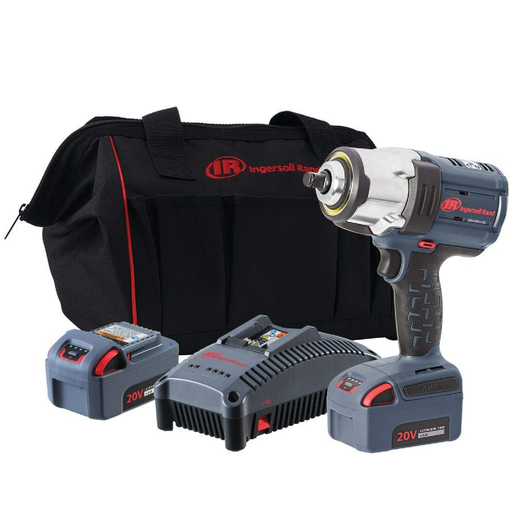 "Ingersoll Rand W7152-K22 1/2"" Drive 20 Volt Cordless HD Impact Wrench Two Battery Kit"