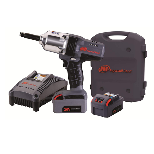 Ingersoll Rand W7250-K2 1/2 Inch High Torque 2 Inch Extended Anvil Impactool Kit with Charger, Li-Ion Batteries and Case