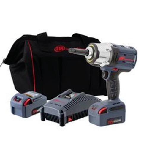"Ingersoll Rand W7252-K22 1/2"" Drive 2"" Anvil IQV20 HD Impact Wrench Two Battery Kit"