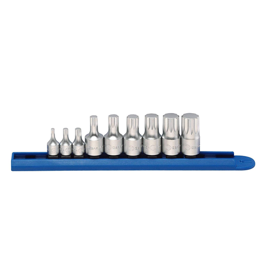 "Gearwrench 81100 9 Piece 1/4"" and 3/8"" Drive Stubby Triple Square Bit Driver Set"