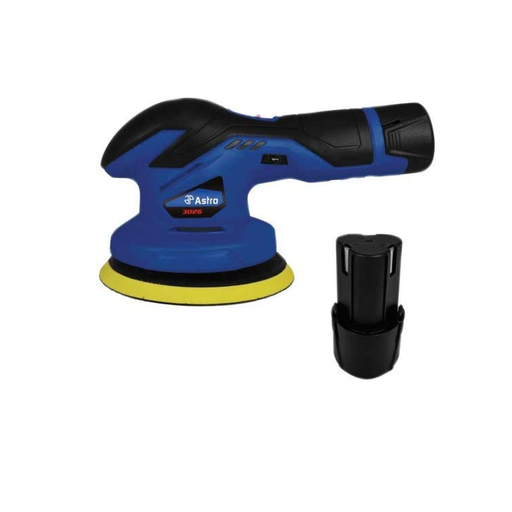 Astro Pneumatic 3026 12V Cordless Variable Speed Palm Polisher Kit