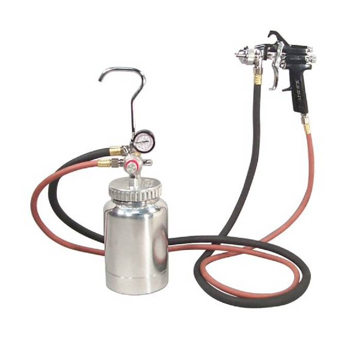 Astro Pneumatic 2PG7S 2 Quart Pressure Pot 1.2mm Spray Gun Kit - Free Shipping