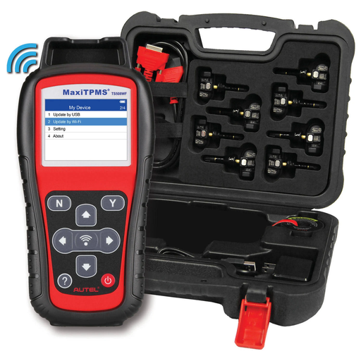 Autel 700020 MaxiTPMS TS508WF Kit with 8 Programmable Autel 1-Sensors
