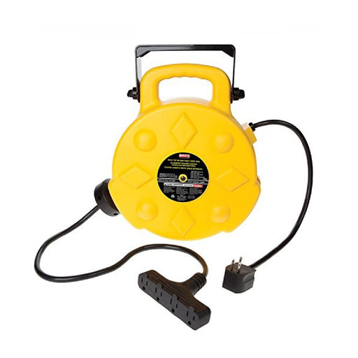 Bayco SL-8904 Professional 15 Amp 50-Foot Retractable Cord Reel with 4 Outlets