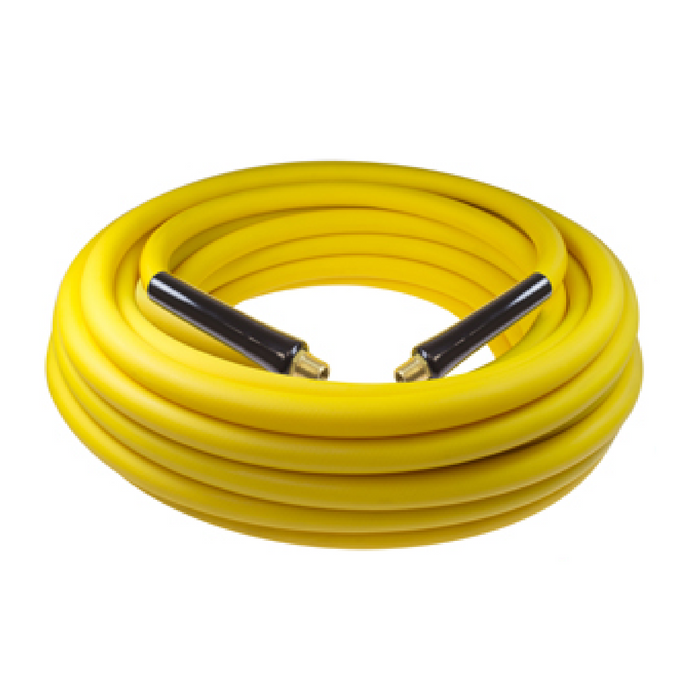 "CoilHose Pneumatics B60504Y 50' Yellow Belly Air Hose - 3/8"" ID - 1/4"" MPT"