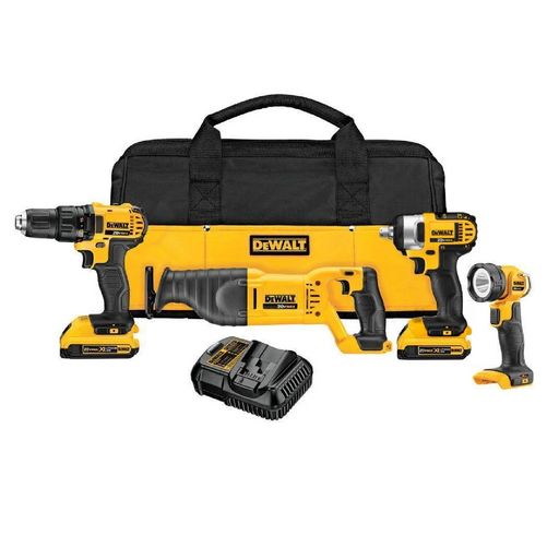 Dewalt DCK478D2 4-Piece 20V Contractor's Tool Kit