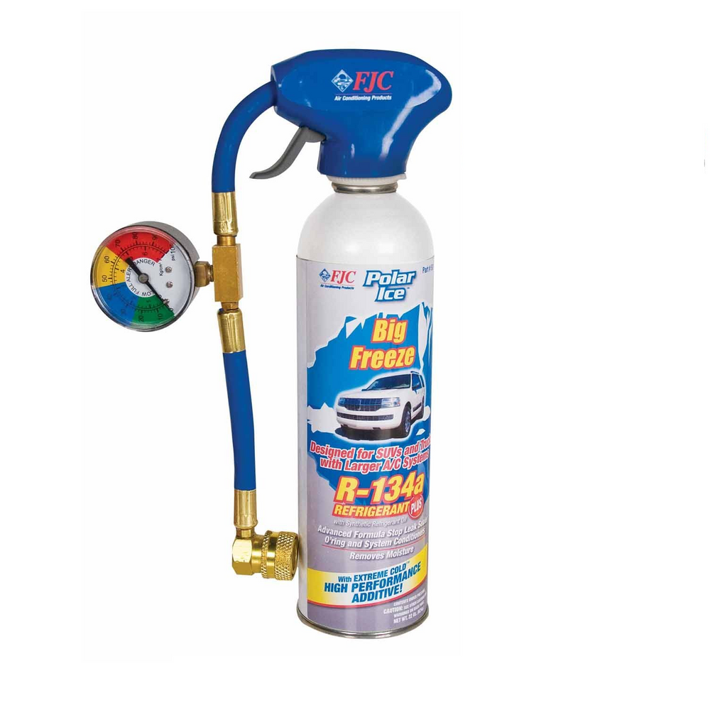 FJC 501 R134A Big Freeze 22 oz Freon Boost and Leak Sealer with Tap - 22 oz