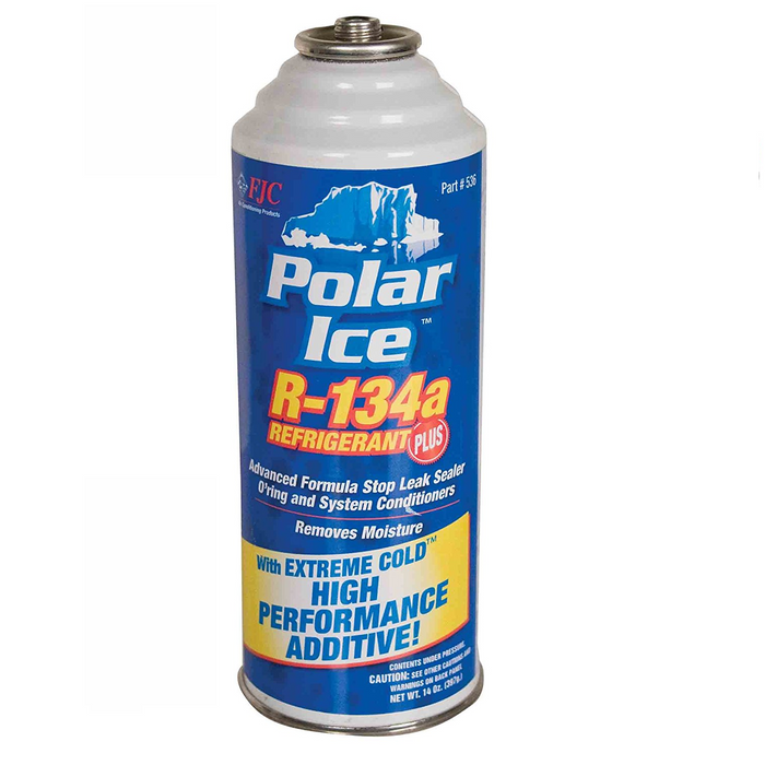 FJC 536 R134A Polar Ice Freon and Leak Sealer -14 oz Replacement Can for FJC 533