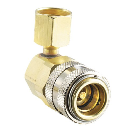 FJC 6006 90 Degree R134A Low Side Quick Coupler - 14mm x 1.5""