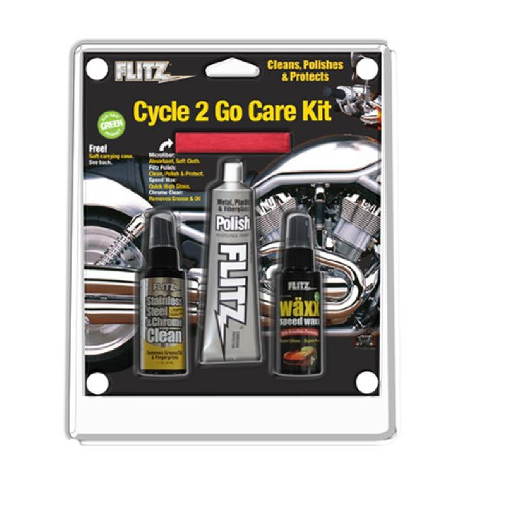 Flitz CY41503 Cycle 2Go Polish and Care Kit