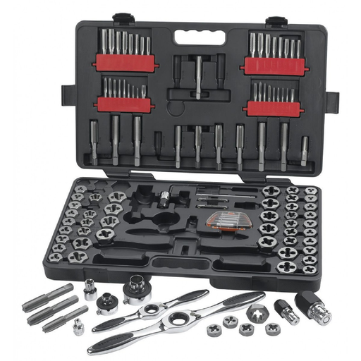 Gearwrench 82812 114-Piece SAE/Metric Combination Tap and Die Set