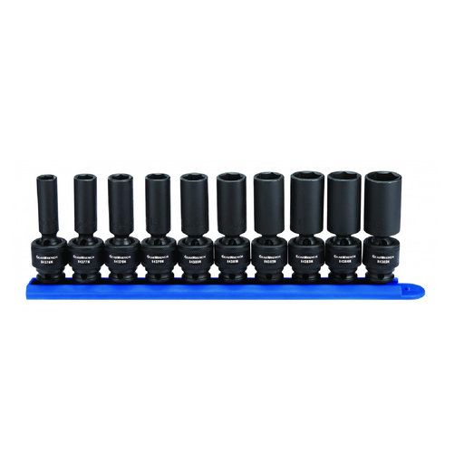 "Gearwrench 84924N 10 Piece 3/8"" Drive 6 Point Metric Deep Universal Impact Socket Set"