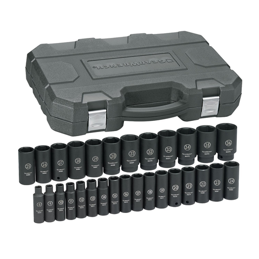 "Gearwrench 84935N 29 Piece 1/2"" Drive 6 Point Metric Deep Impact Socket Set"