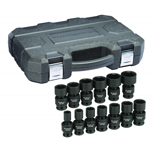 "Gearwrench 84938N 13-Piece 1/2"" Drive SAE Universal Impact Socket Set - 6 Point"