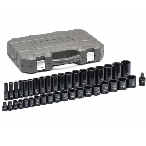 "Gearwrench 84947N 39-Piece 1/2"" Drive 6-Point SAE Socket Set - Standard & Deep"