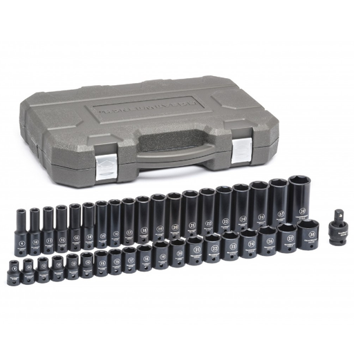 "Gearwrench 84948N 39-Piece 1/2"" Drive Metric Socket Set -  6-Point Standard and Deep"