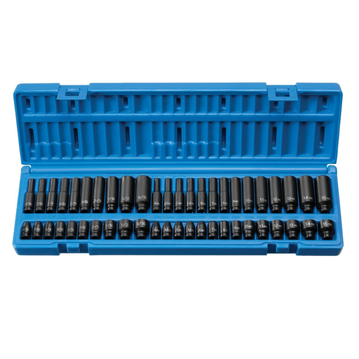 "Grey Pneumatic 9748 1/4"" Drive Standard and Deep Fraction and Metric Master Socket Set"