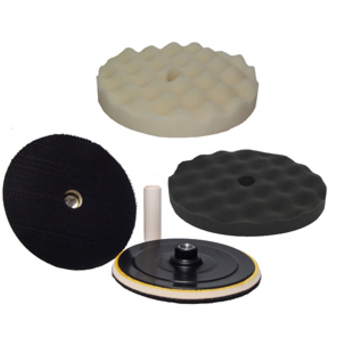 Hi-Tech BK-3W Hi-Buff Foam Pad Kit with Velcro Backing Pad