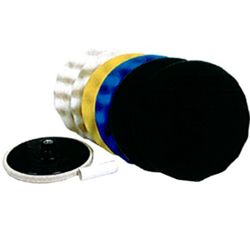 "Hi-Tech BK-7 9"" Waffle Pad Polishing Pack with Backing Plate"