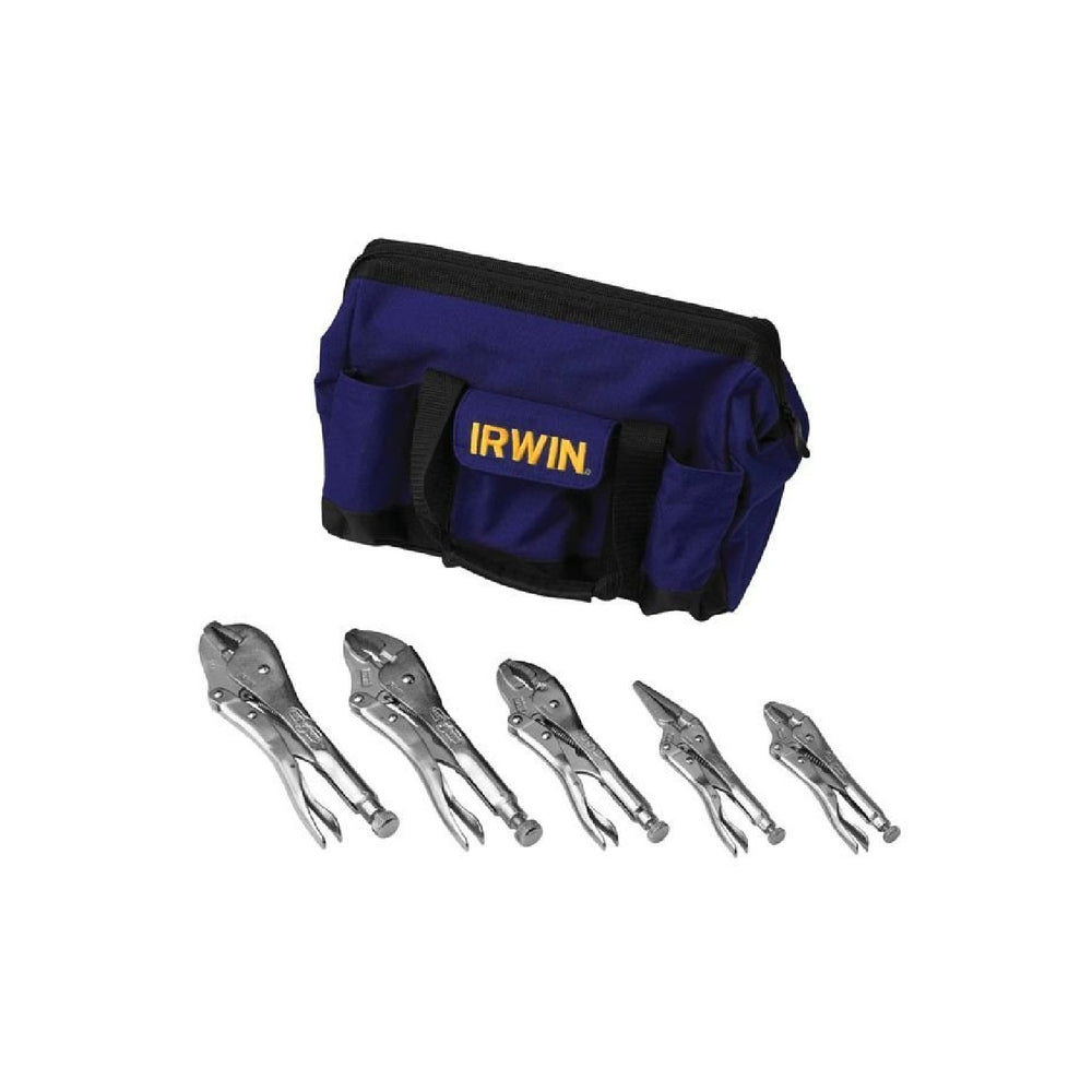 IRWIN Tools 2077704 VISE-GRIP Original Locking Pliers Kit Bag Set, 5-Piece