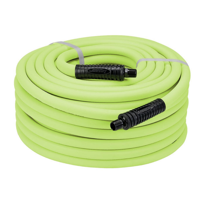 "Legacy HFZ1250YW3 Flexzilla 1/2"" x 50' Yellow Air Hose with 3/8"" MNPT"