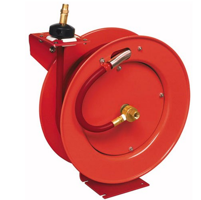 "Lincoln 83754 1/2"" Air Hose Reel With Auto Rewind - 50'"
