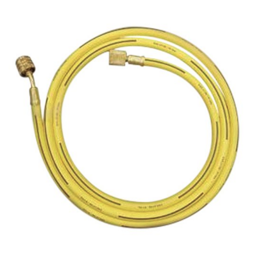 "MasterCool 84367 60"" Yellow Service Hose With Shutoff"