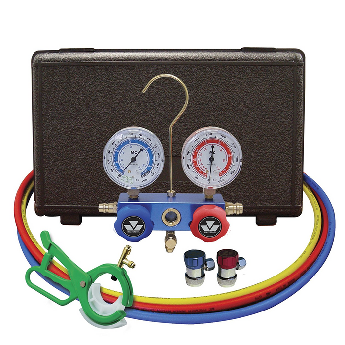 MasterCool 89661-PRO R134a Manifold Gauge Set with Aluminum Standard Couplers