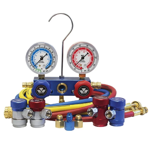 Mastercool 89661-AYF Dual Aluminum 134A and 1234YF Manifold Gauge Set