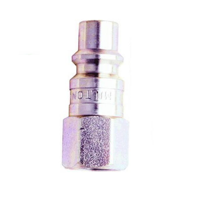 "Milton 1840 3/8"" X 1/4"" Female NPT H Style Air Nipple"