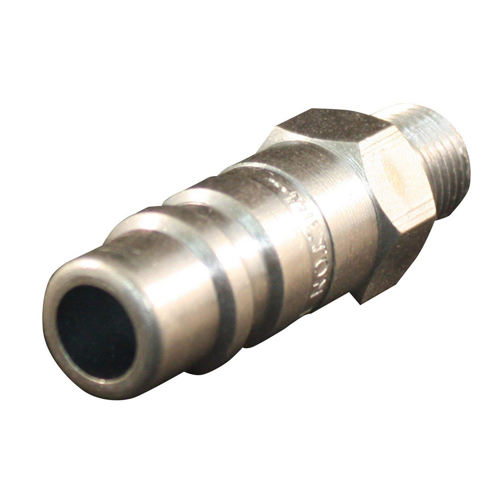 "Milton 1857 1/2"" X 1/2"" Male NPT G Style Air Nipple"